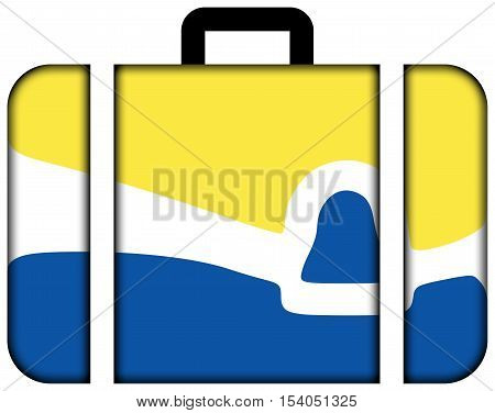 Flag Of San Luis Obispo, California, Usa. Suitcase Icon, Travel And Transportation Concept
