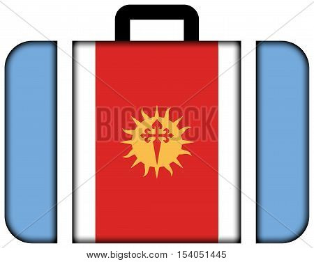 Flag Of Santiago Del Estero Province, Argentina. Suitcase Icon, Travel And Transportation Concept