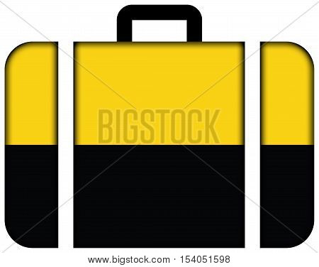 Flag Of Saxony-anhalt, Germany. Suitcase Icon, Travel And Transportation Concept