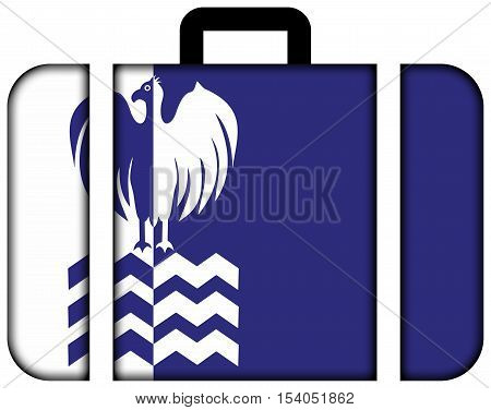 Flag Of Tiete, Sao Paulo State, Brazil. Suitcase Icon, Travel And Transportation Concept