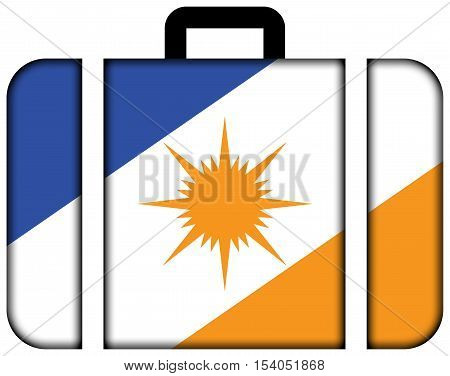 Flag Of Tocantins State, Brazil. Suitcase Icon, Travel And Transportation Concept