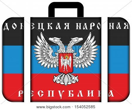 The Flag Of Donetsk Republic, A Pro-russian Separatist Organization Operating In Donetsk, Ukraine. S