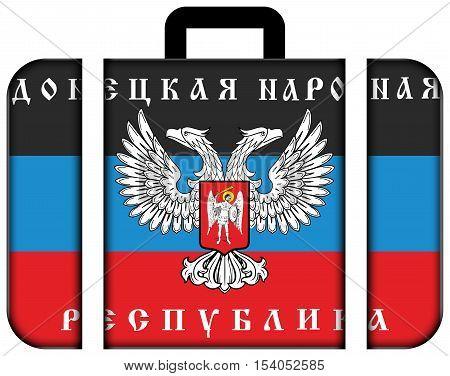 The Flag Of Donetsk Republic, A Pro-russian Separatist Organization Operating In Donetsk, Ukraine. S