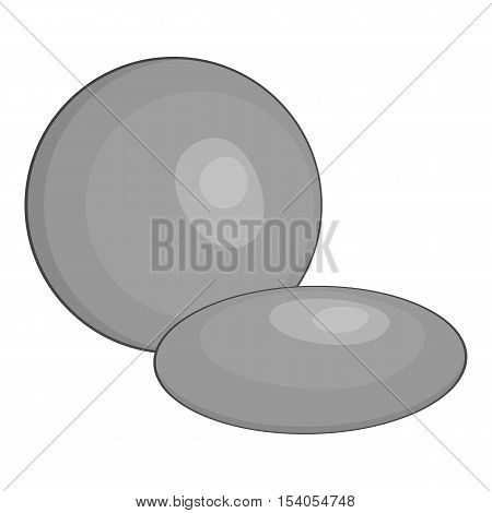 Contact lens icon. Gray monochrome illustration of contact lens vector icon for web design