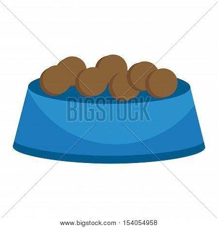 Dog food cap vector illustration and pet plate food cap animal snack nutrition vector illustration.