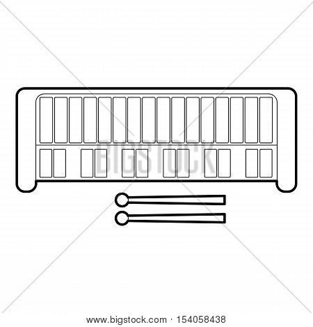 Xylophone icon. Outline illustration of xylophone vector icon for web