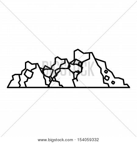 Ground icon. Outline illustration of ground vector icon for web
