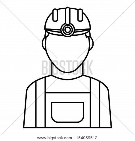 Miner icon. Outline illustration of miner vector icon for web