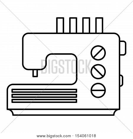 Sewing machine icon. Outline illustration of sewing machine vector icon for web