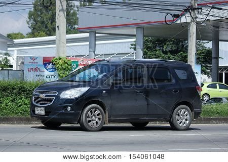 CHIANGMAI THAILAND - OCTOBER 9 2016: Private MPV car Chevrolet Spin. Photo at road no 121 about 8 km from downtown Chiangmai thailand.