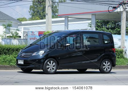 CHIANGMAI THAILAND - OCTOBER 9 2016: Private Honda Freed van. Photo at road no.121 about 8 km from downtown Chiangmai thailand.