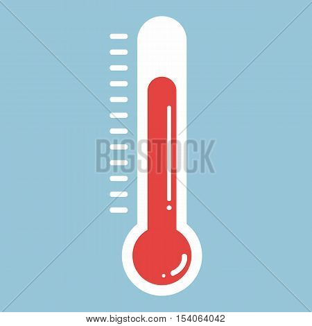 Thermometers In Flat Style And Thermometer Icon, Medical Thermometer Icon
