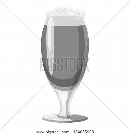 Wine goblet icon. Gray monochrome illustration of wine goblet vector icon for web