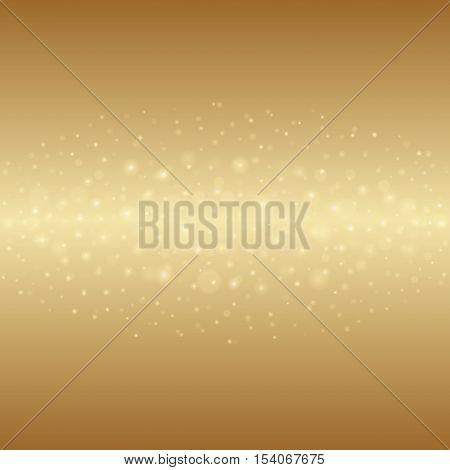 Abstract Golden Light Bokeh Background Vector Illustration.