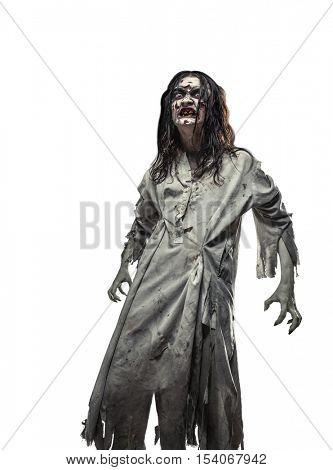 scary undead zombie. Halloween.