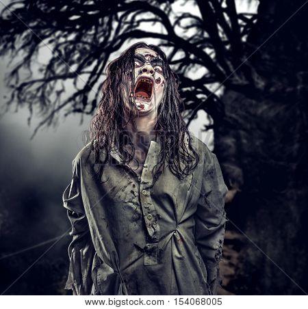 Scary zombie. Halloween.
