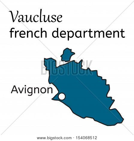 Vaucluse french department map on white in vector