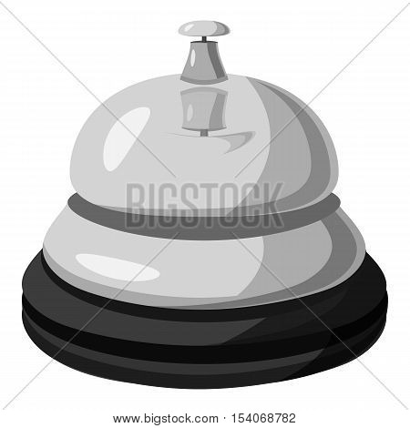 Reception bell icon. Gray monochrome illustration of reception bell vector icon for web
