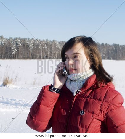 A Girl With A  Mobile Phone