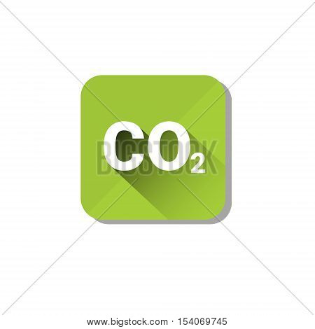 CO2 Emission Environment Pollution Eco Nature Care Web Icon Flat Vector Illustration