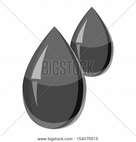 Drops of blood icon. Gray monochrome illustration of drops of blood vector icon for web