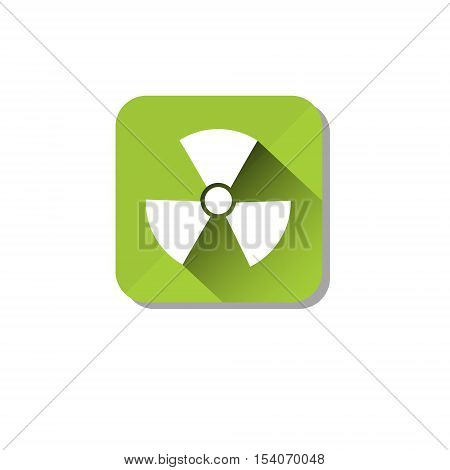 Radiation Safety Sign Icon Ecology Environment Care Flat Vector Illustration