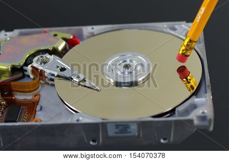 symbolic erasing from disc data high speed