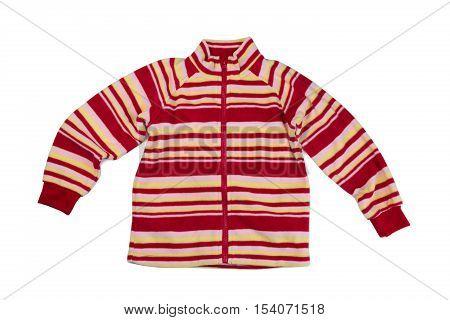 Children fleece sweatshirt isolate on white studio
