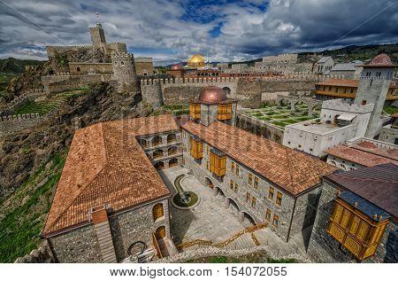 Famous Renovated Medieval Rabati Castle in Akhaltsikhe, Georgia