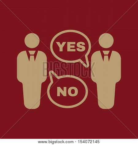 The dispute icon. Dialog and negotiation, discussion symbol. Flat Vector illustration