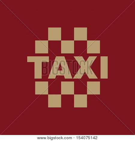 The taxi icon. Cab and taxicab symbol. Flat Vector illustration