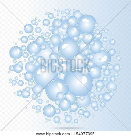 Soap bubbles background. Air bubbles. Bubbles in a water.