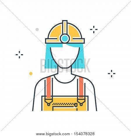 Color Line, Health Insurance Concept Illustration, Icon