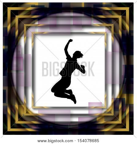 Silhouette Success Frame Background Beautiful Banner Wallpaper Design Illustration