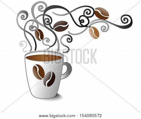 Fresh Coffee in the Cup with Smell