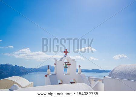 Church of Oia in Santorini island Greece