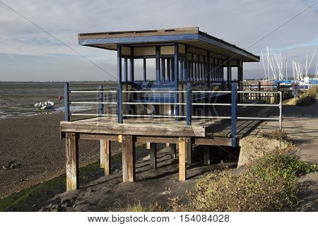 Blue Shelter at Leigh-on-Sea near Southend Essex England