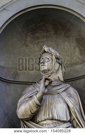Francesco Petrarca Monument In Florence