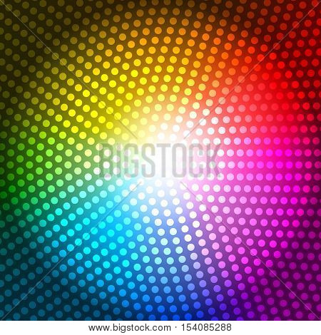 Circle Radius Abstract Rainbow Background Vector Illustration EPS10
