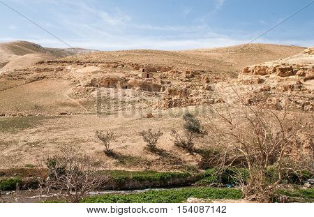 Hermit cells in Kidron valley near Kidron river, Israel