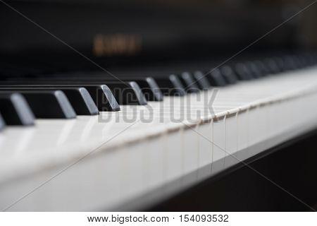 Black Piano Close-up