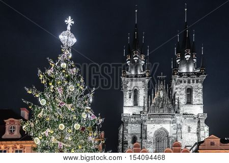 Church Of Our Lady Before Tyn At Prague, Czech Republic