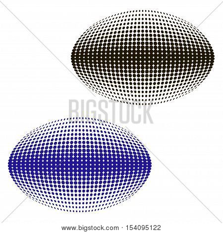 Abstract dotted halftone effect vector sphere background