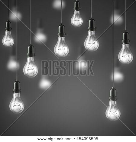 Lamp light bulbs. 3D illustration