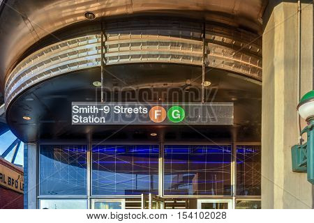 Smith-Ninth Streets is a local station on the IND Culver Line of the New York City Subway in the Gowanus neighborhood of Brooklyn.