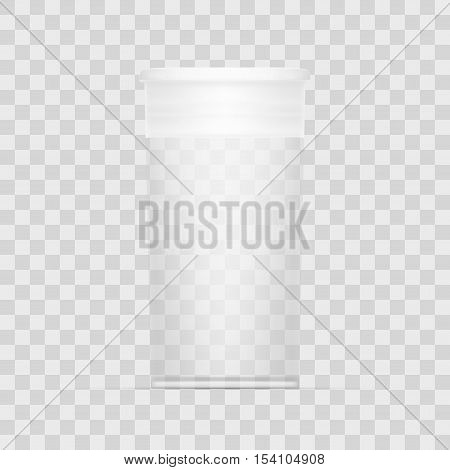 Empty Transparent Cylindrical Medical Package