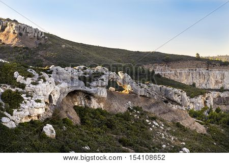 View Of Cassis Town, Cap Canaille Rock And Mediterranean Sea From Route Des Cretes Mountain Road, Pr