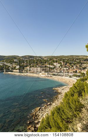 View To Cassis From Scenic Route De Cretes