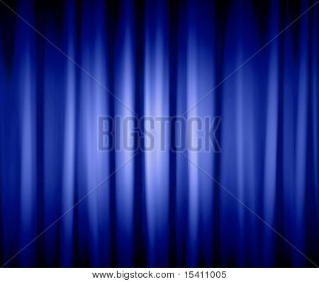 Blue Dramatic Drapes
