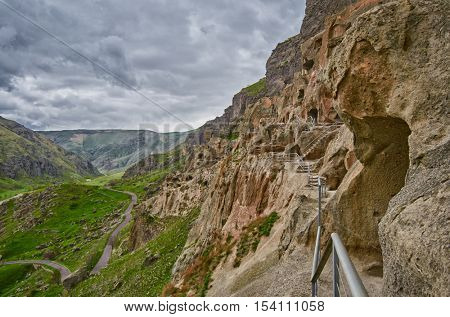 Vardzia Ancient Cave Monastery Town in Georgia